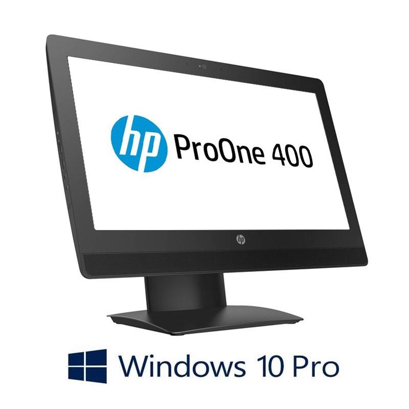 All-in-One HP ProOne 400 G3, Quad Core i7-6700T, SSD, 20 inci, Webcam, Win 10 Pro