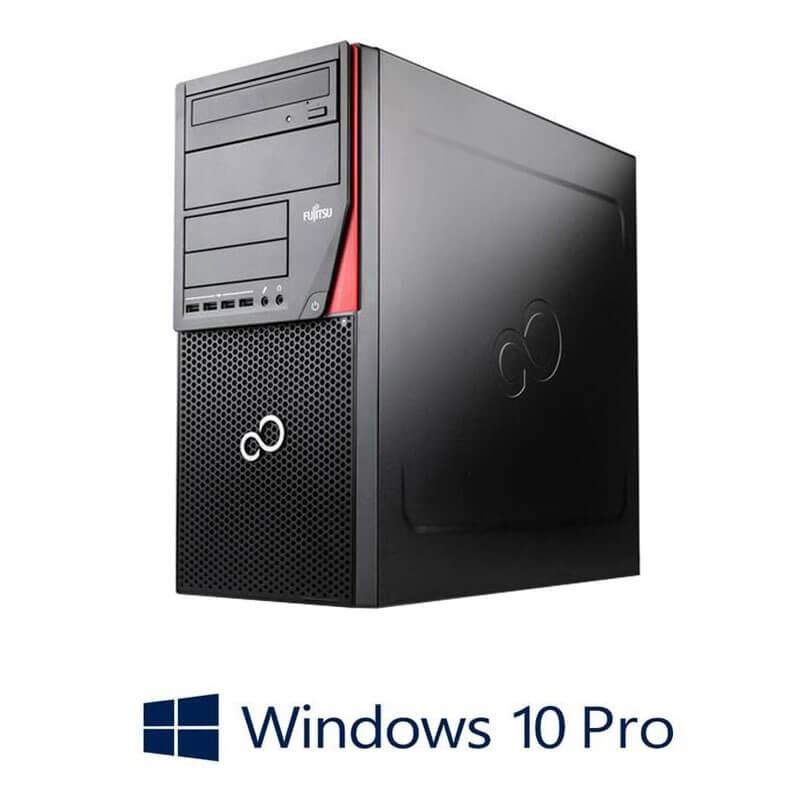 Calculatoare Fujitsu ESPRIMO P720, i7-4770, 240GB SSD, Radeon HD 7350, Win 10 Pro
