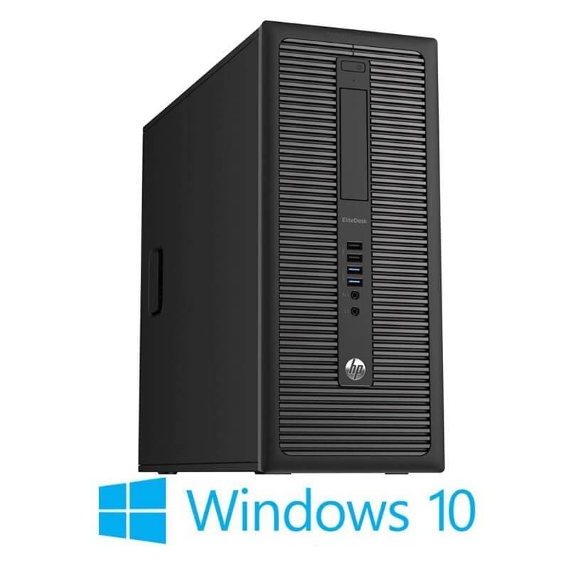 Calculatoare HP EliteDesk 800 G1 MT, Quad Core i5-4570, 240GB SSD NOU, Win 10 Home