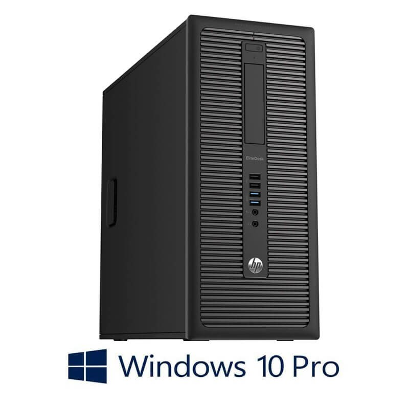 Calculatoare HP EliteDesk 800 G1 MT, Quad Core i5-4570, 240GB SSD NOU, Win 10 Pro