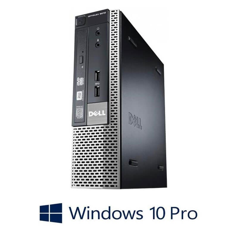 Calculator Dell OptiPlex 9010 USFF, Quad Core i5-3475S, 128GB SSD, Win 10 Pro