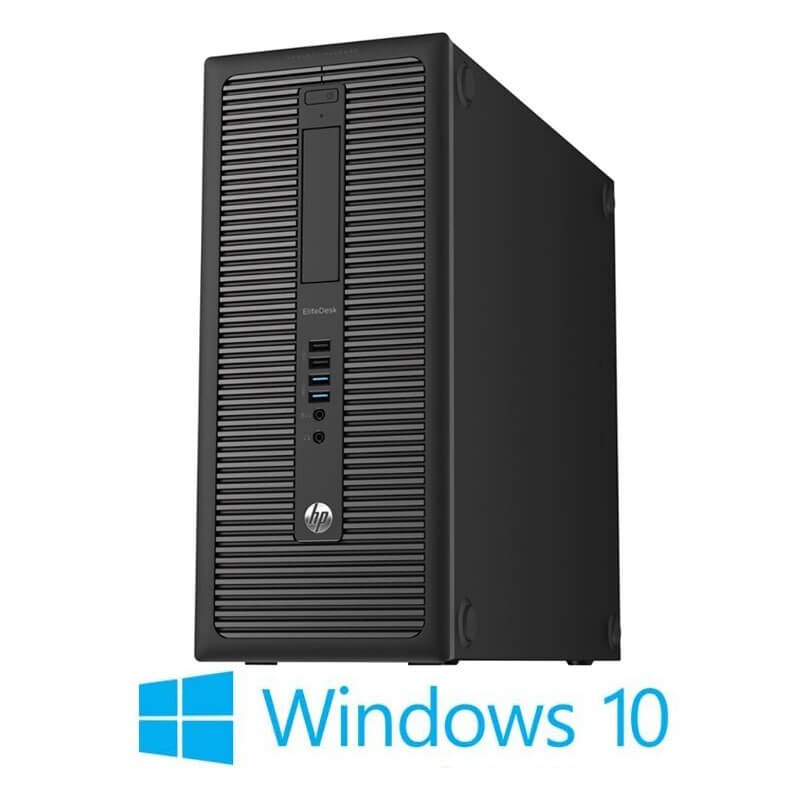 Calculator HP EliteDesk 800 G1 MT, Quad Core i5-4570, 120GB SSD NOU, Win 10 Home