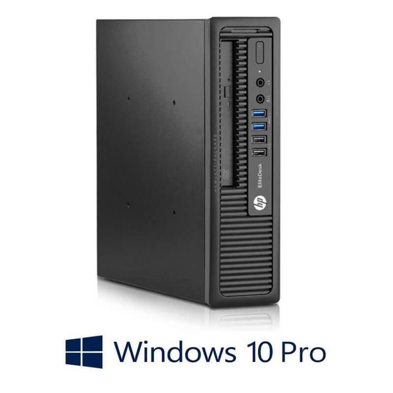 Calculator HP EliteDesk 800 G1 USDT, Intel i3-4350, 256GB SSD, Windows 10 Pro