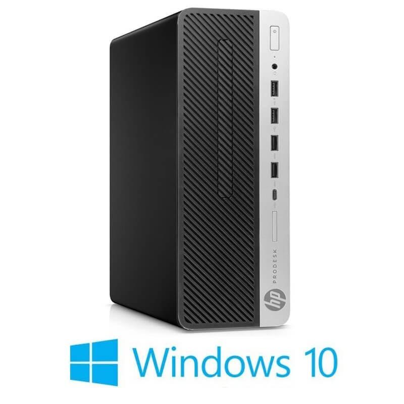 Calculator HP ProDesk 600 G4 SFF, Hexa Core i7-8700T, 120GB SSD NOU, Win 10 Home