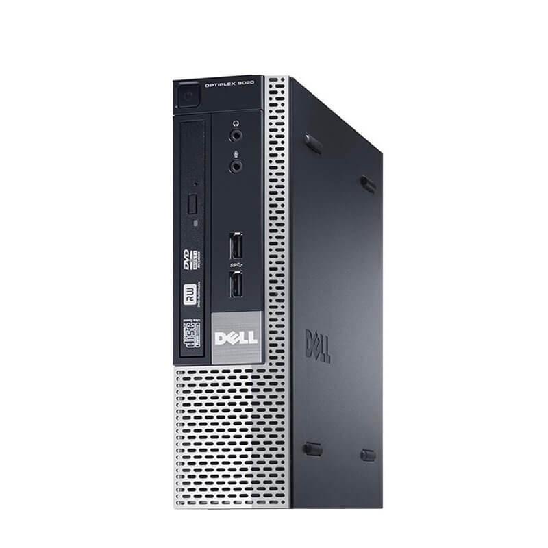 Calculator second hand Dell OptiPlex 9020 USFF, Intel Core i3-4160, 128GB SSD
