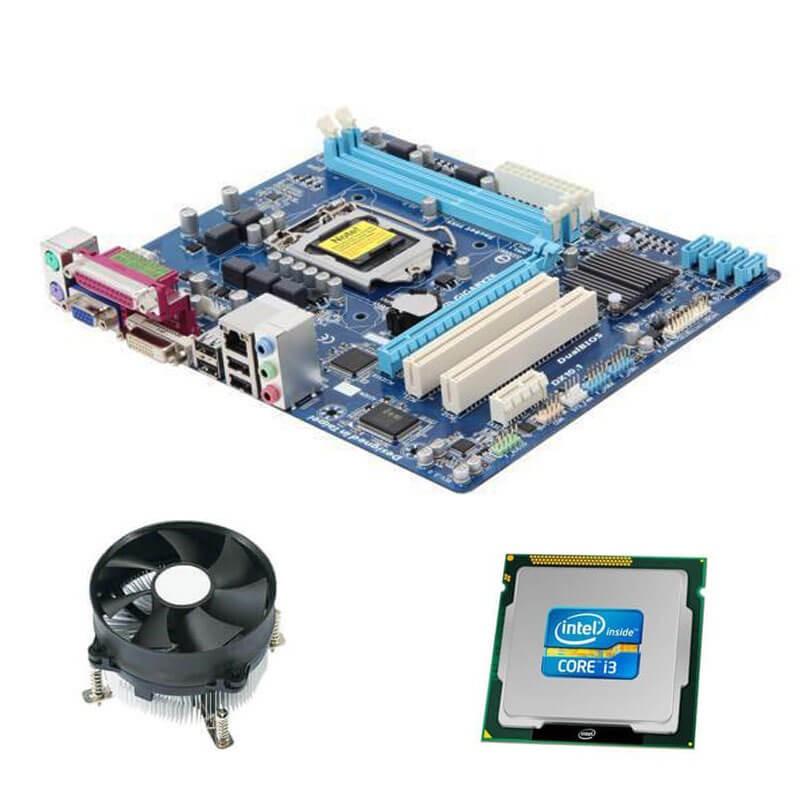 Kit Placi de baza Gigabyte GA-H61M-S2PV, Intel Core i3-2100, Cooler