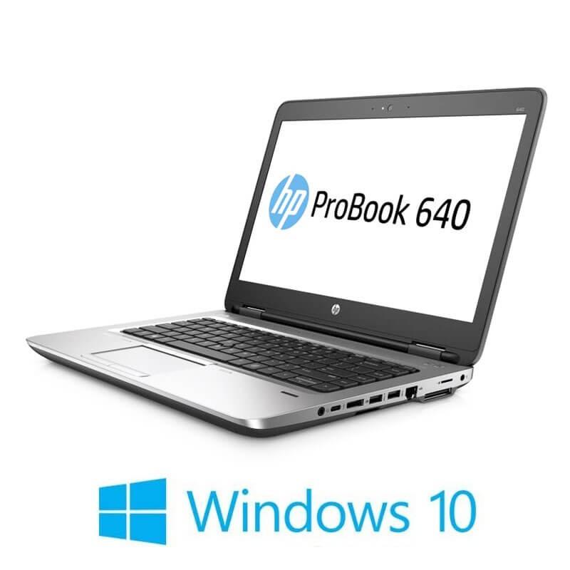 Laptop HP ProBook 640 G2, Core i3-6100U, SSD, Webcam, Win 10 Home