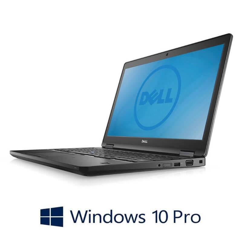 Laptopuri Dell Latitude 5580, Intel i5-6300U, 256GB SSD, 15.6 inci , Webcam, Win 10 Pro