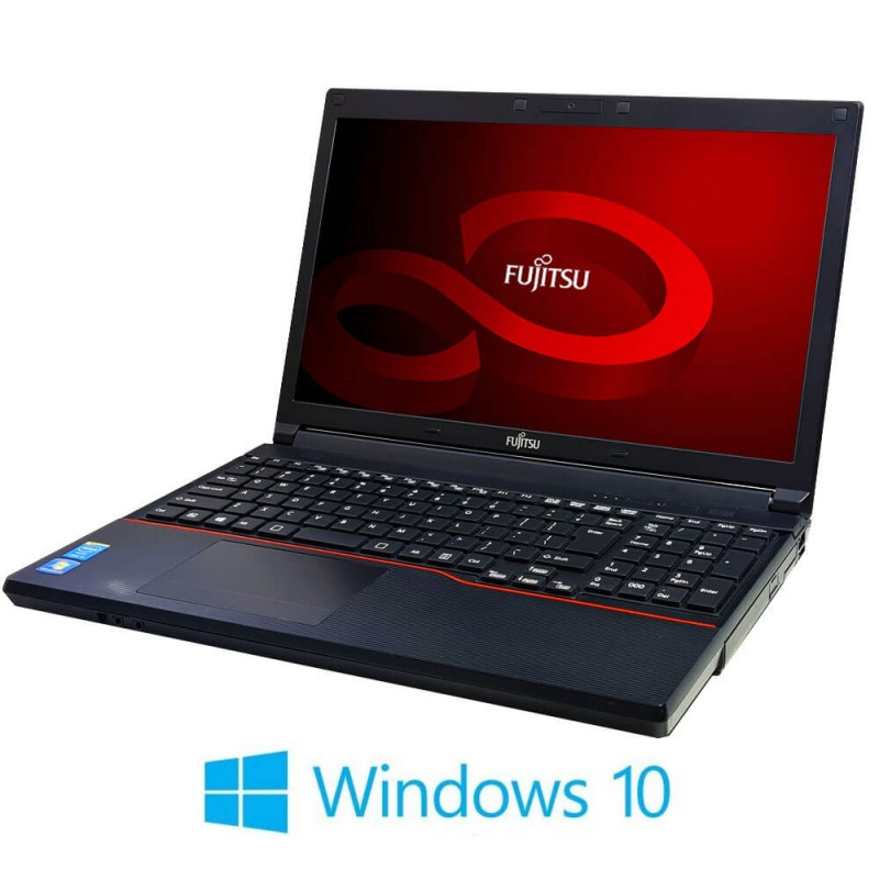 Laptopuri Fujitsu LIFEBOOK A574/K, Intel Core i3-4000M, 15.6 inci, Webcam, Windows 10 Home