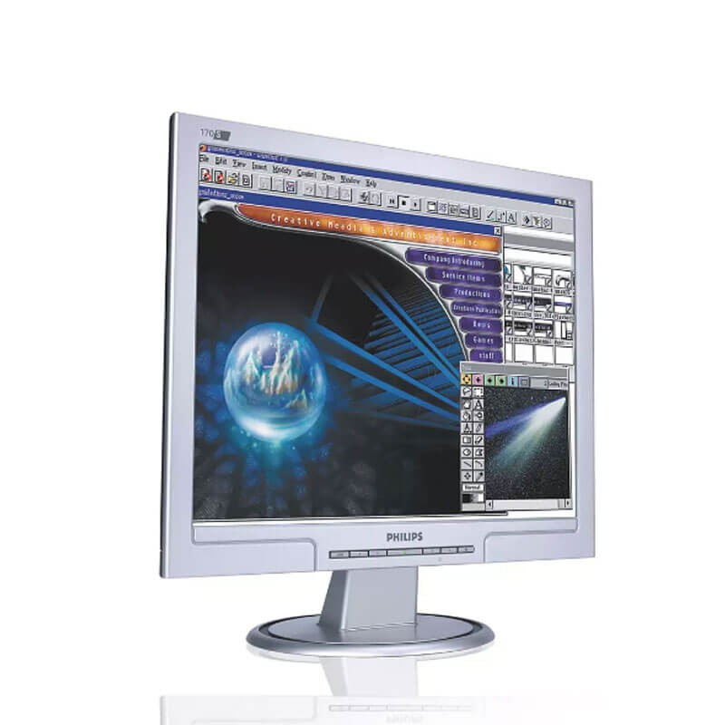 Monitor LCD Refurbished Philips 170S, 17 inch