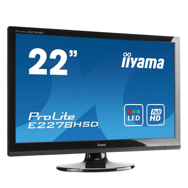 Monitor LED Iiyama ProLite E2278HSD, 21.5 inci Full HD