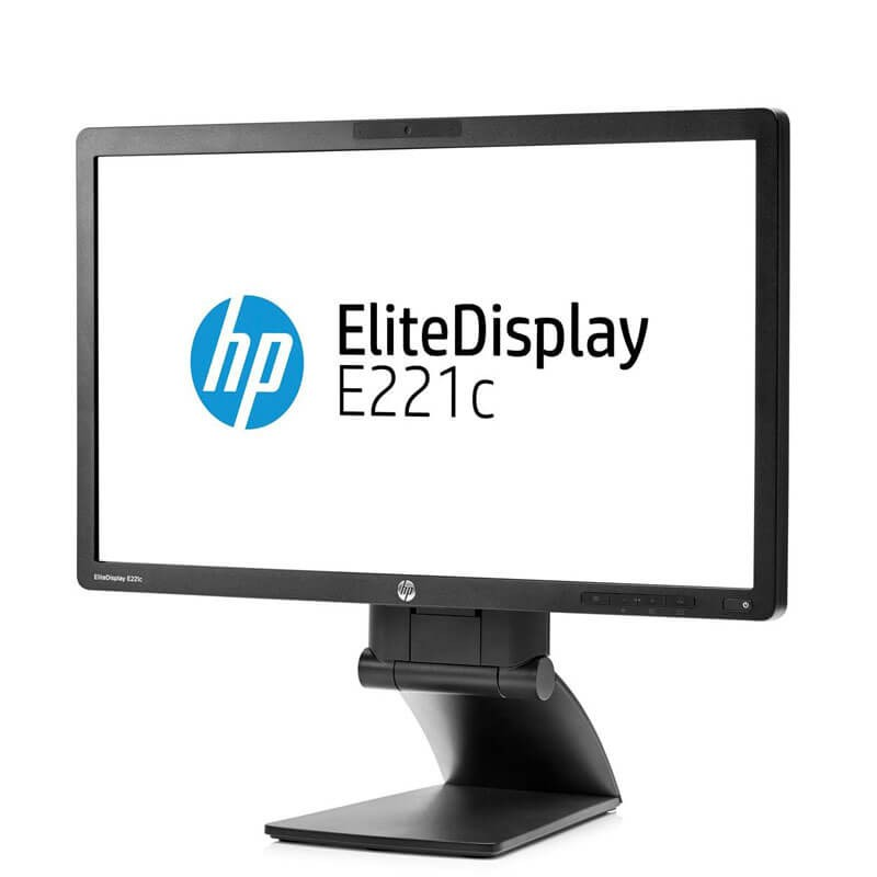 Monitor LED Refurbished HP EliteDisplay E221c, IPS Full HD, Webcam