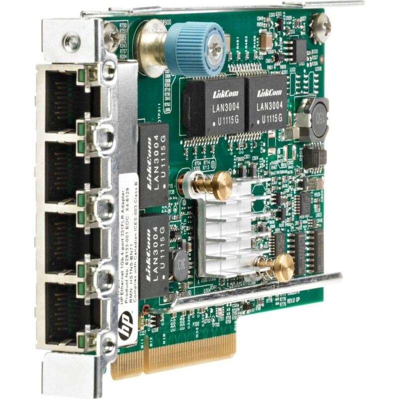 Placa de Retea Refurbished Gigabit, Quad Port, 629133-002 HP 331FLR
