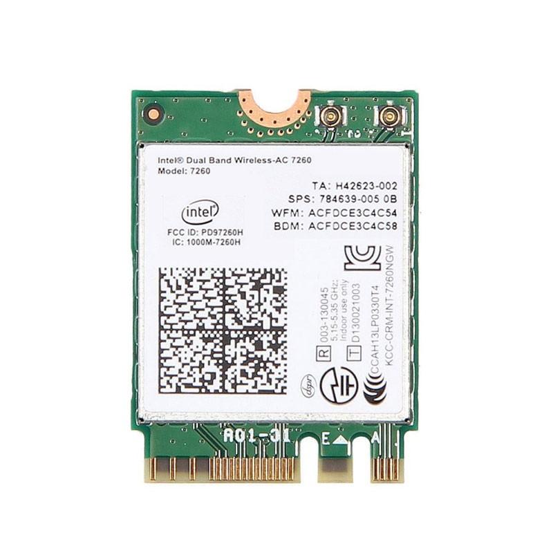 Placa Retea M.2 2230 Intel Dual Band Wireless-AC 7260, Bluetooth 4.0