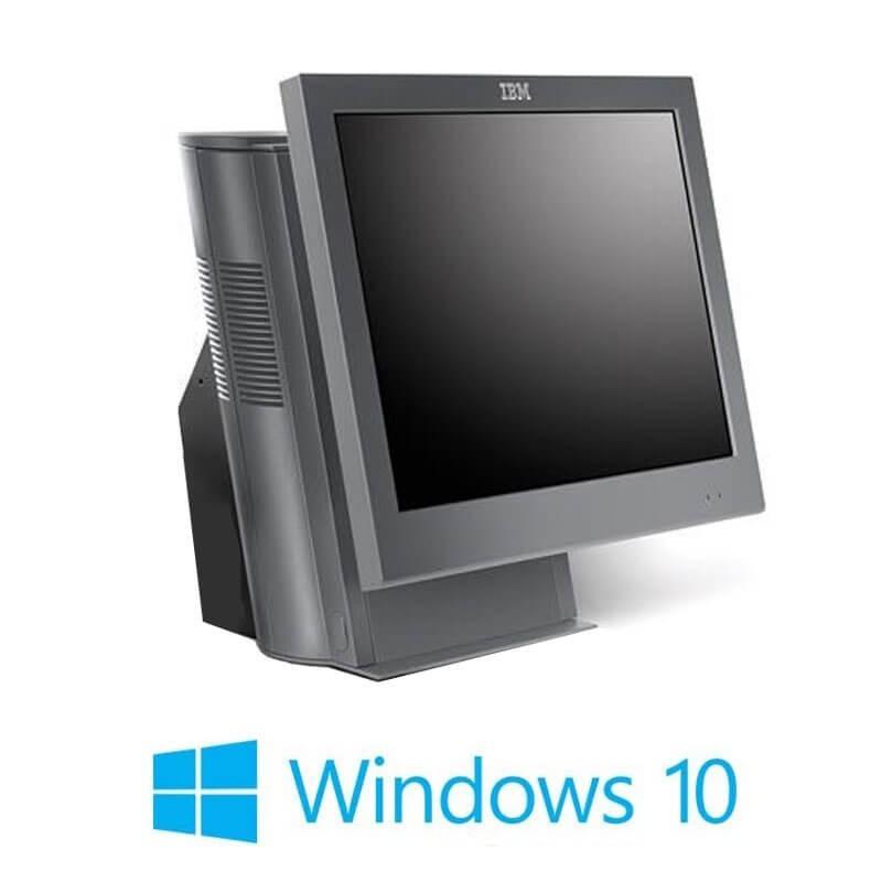 Sisteme POS IBM SurePOS 4852-E66, Core 2 Quad Q9300, SSD, 15 inci, Windows 10 Home