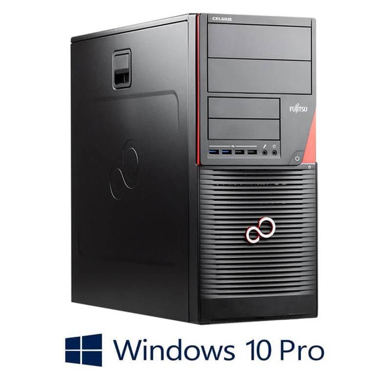 Statie grafica Fujitsu CELSIUS W550n, E3-1220 v5, 512GB SSD, Quadro 4000, Win 10 Pro