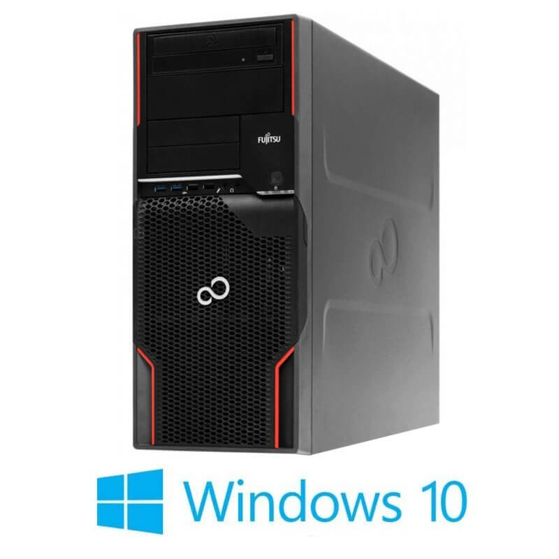 Statie grafica Refurbished Fujitsu CELSIUS W520, E3-1230 v2, GeForce GT 240, Win 10 Home