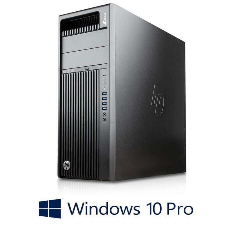 Statie grafica Refurbished HP Z440, Xeon E5-1620 v3, SSD, Quadro K4200, Win 10 Pro
