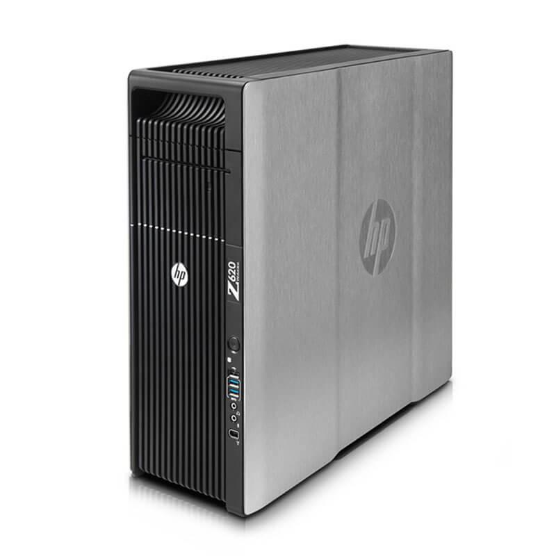 Statie grafica second hand HP Z620, 2 x Xeon Quad Core E5-2643, 24GB DDR3, Quadro K2000