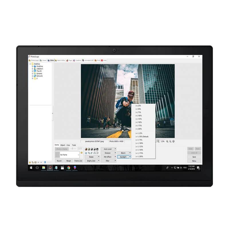 Tableta second hand Lenovo ThinkPad X1 Gen 2, Intel m5-6Y54, 256GB SSD, 2K IPS, Webcam, Grad B